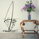 Windsurfing Wall Decal - Vinyl Decal - Car Decal - Bl008