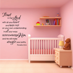 Proverbs 3:5-6 Trust in the lord Decal