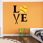 Love Softball Mom Printed Decal
