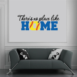 There is No Place Like Home Softball Wall Decal