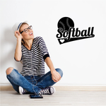 Love Softball Wall Decal