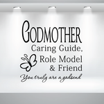Godmother Caring Guide Role Model and Friend Decal