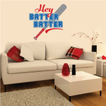 Softball Hey Batter Batter Quote Color Wall Decal - Vinyl Decal - Car Decal - Vd006