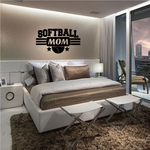 Softball Mom Frame Wall Decal - Vinyl Decal - Car Decal - Vd005