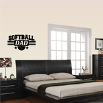 Softball Dad Frame  Wall Decal - Vinyl Decal - Car Decal - Vd006