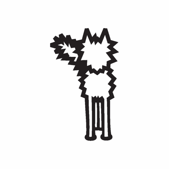 Frizzy Cat Decal