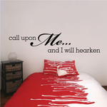 Call Upon Me and I Will Hearken Decal