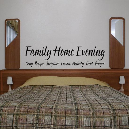 Family Home Evening Song Prayer Decal