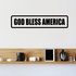 God bless America Decal Outlined Decal
