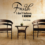 Faith I don't believe I know Carl Jung Decal