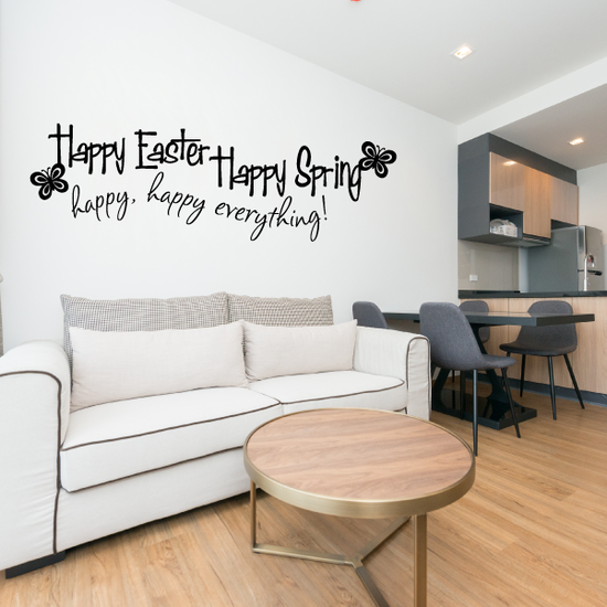 Happy Easter Happy Spring Decal
