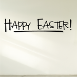 Happy Easter Exclamation Decal