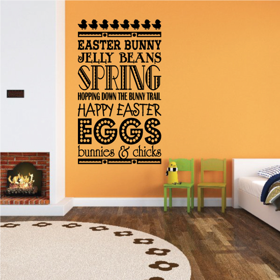 Easter Typography Wall Decal