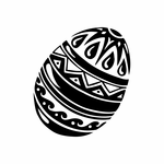 Intricatly Decorated Easter Egg Decal