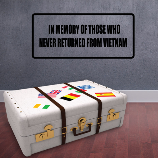 In memory of those who never returned from Vietnam Decal
