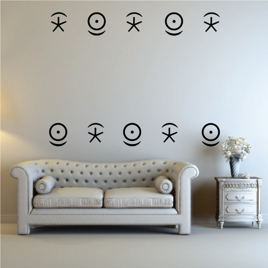 Egyptian Heiroglyphs Eye and Star Decals