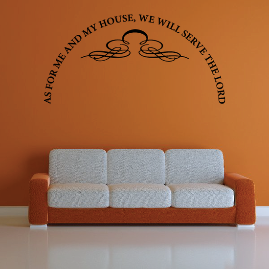 As for me and my house we will serve the lord with embellisment Decal