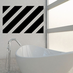 Diagonal Line Wall Pattern Wall Decal - Vinyl Decal - Car Decal - Mvd012