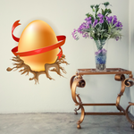 Easter Egg Wrapped on Nest Sticker