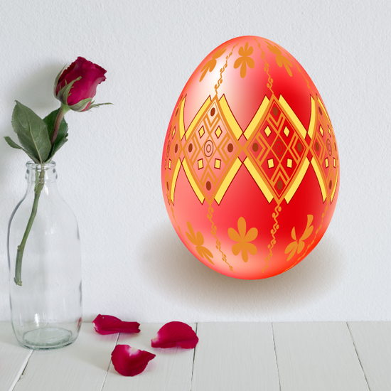 Easter Egg Ornament Sticker