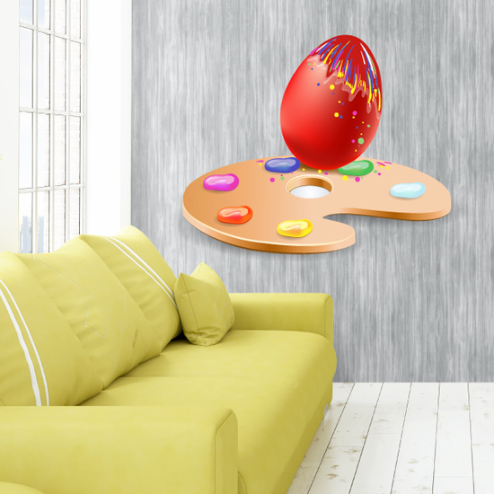 Colorful Painted Easter Egg Palette Sticker