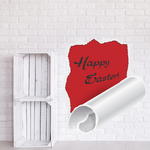 Happy Easter Illusion Vertical Tear Sticker