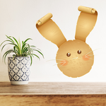 Easter Bunny with Curled Ears Sticker