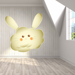 Easter Bunny Puffy Cloud Sticker