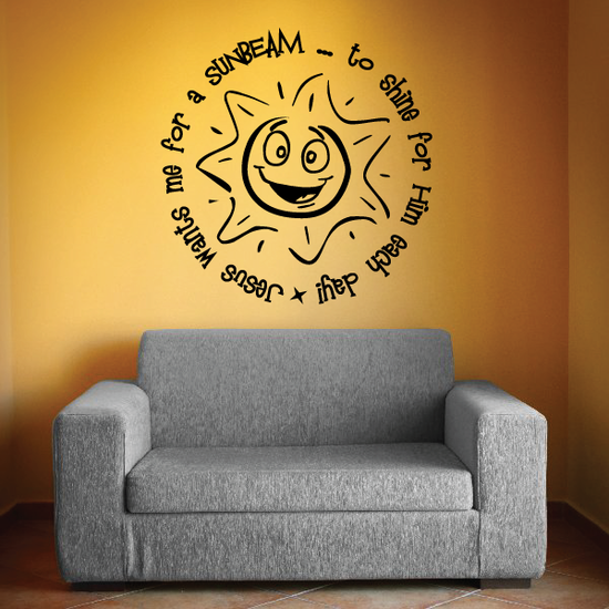 Jesus wants me for a sunbeam to shine for him each day Decal