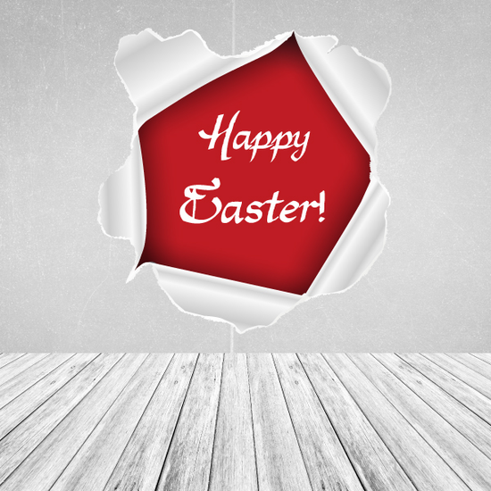 Happy Easter Rounded Tear Sticker