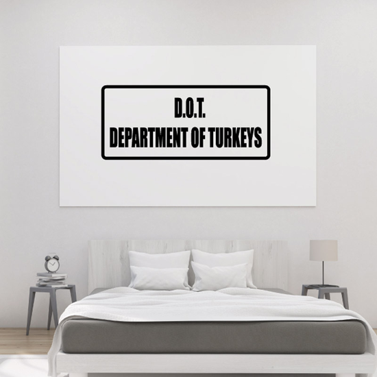 DOT Department of Turkeys Decal