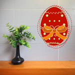 Easter Egg Dotted Ribbon Printed Die Cut Decal