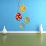 Spring Vines Easter Eggs Printed Die Cut Decal