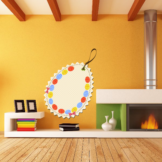 Easter Egg Decorated Retail Tag Sticker