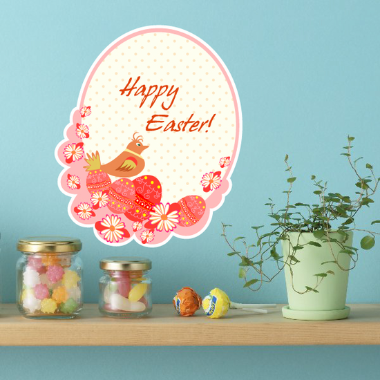 Happy Easter Chic Dot Sticker