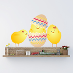 Easter Eggs Chicks Hatching Printed Die Cut Decal