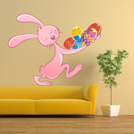 Easter Bunny Carrying Eggs Sticker
