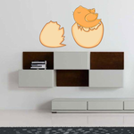 Chick Hatching from Egg Printed Die Cut Decal