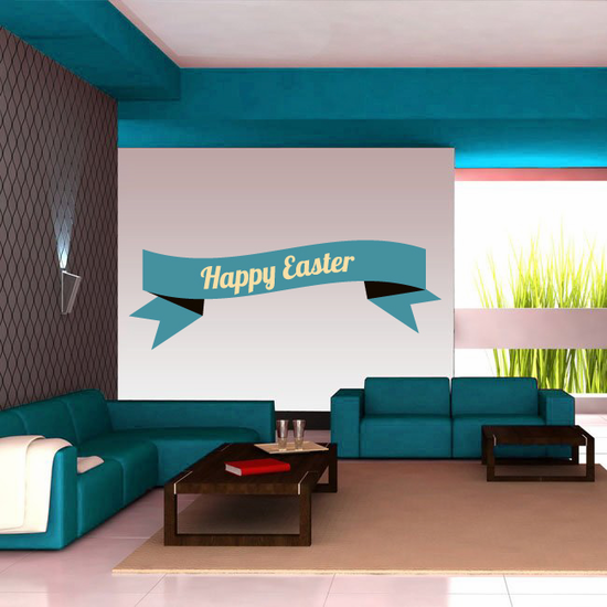 Happy Easter Text Banner Sticker