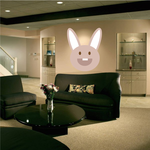 Big Smile Easter Bunny Head Sticker