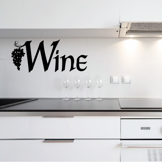 Grapes with Wine Decal