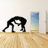 Grappling Wrestlers Decal