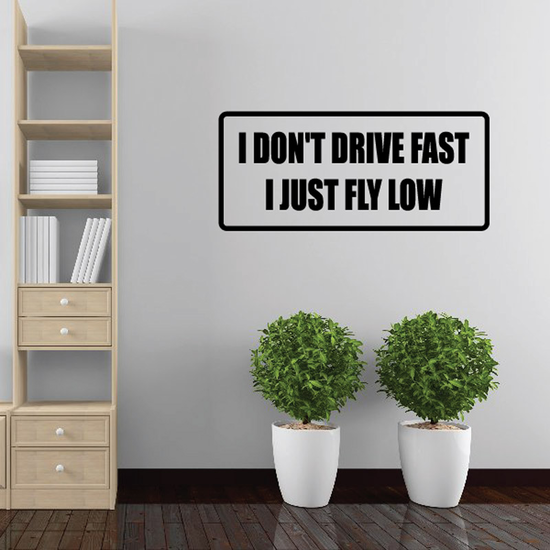 I don't drive fast I just fly low Decal