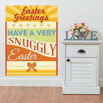 Easter Greetings Have a Very Snuggly Easter Rectangle Sticker