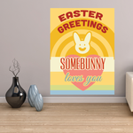 Some Bunny Loves You Easter Greetings Rectangle Sticker