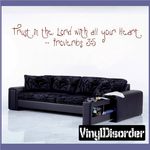Trust in the lord Decal