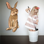 Easter Bunny Looking Sticker