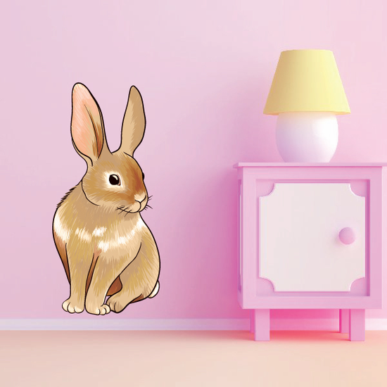 Curious Easter Bunny Sticker