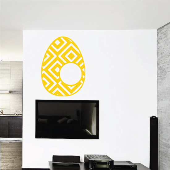 Easter Egg Geometric Pattern Decal
