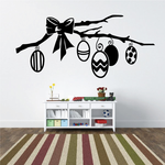Easter Egg Ornaments Branch Decal